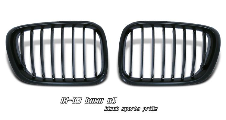 BMW X5 2001-2003 Black Front Grill Insert