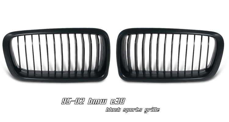 BMW 7 Series 1995-2002 Black Grill Insert