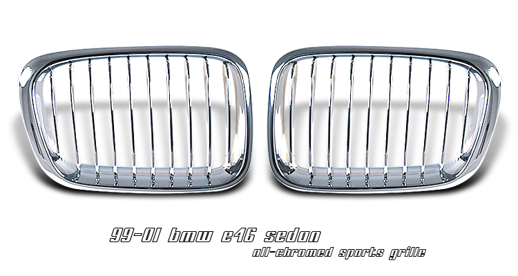 Bmw 3 Series 1999-2001 4dr  Chrome Front Grill