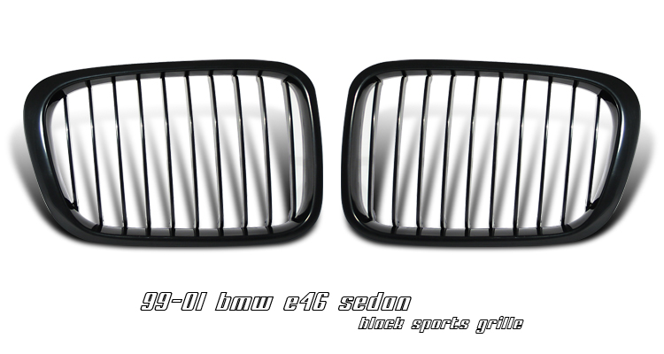 Bmw 3 Series 1999-2001 4dr Black Front Grill