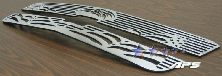 Chevrolet Silverado 3500 2003-2004 Polished Main Upper Symbolic Grille