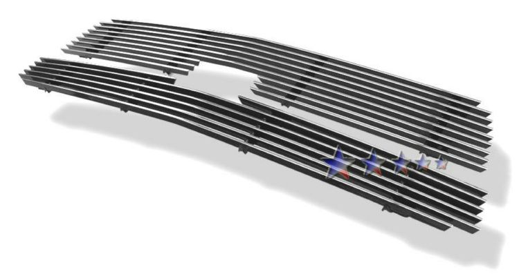 Chevrolet Avalanche  2001-2006 Polished Main Upper Aluminum Billet Grille