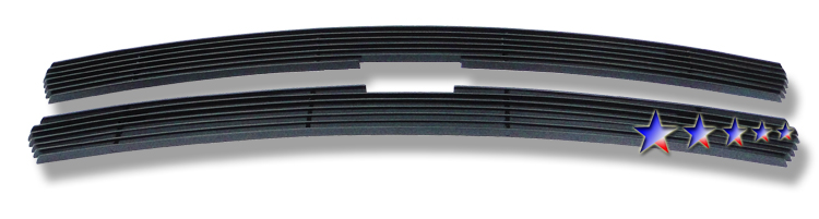 Chevrolet Silverado 1500/1500hd/2500/2500hd/3500 1999-2002 Black Powder Coated Main Upper Black Aluminum Billet Grille