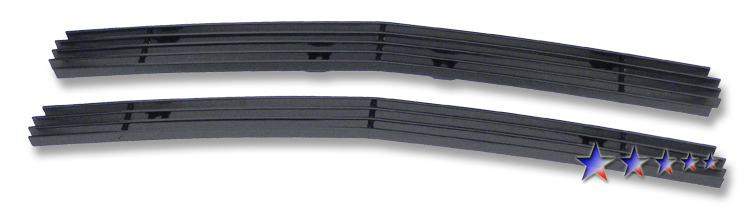 Chevrolet S-10 Pickup  1998-2004 Black Powder Coated Main Upper Black Aluminum Billet Grille