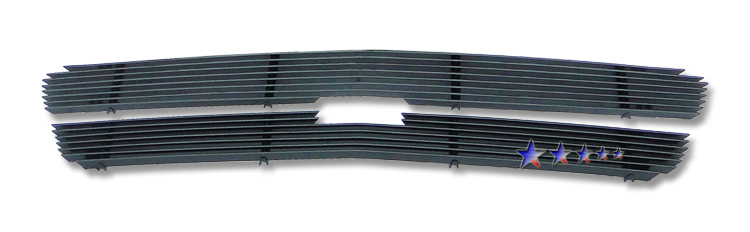 Chevrolet Silverado 1500 Hd 2005-2005 Black Powder Coated Main Upper Black Aluminum Billet Grille