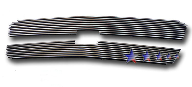 Chevrolet Silverado 3500 2003-2004 Polished Main Upper Aluminum Billet Grille