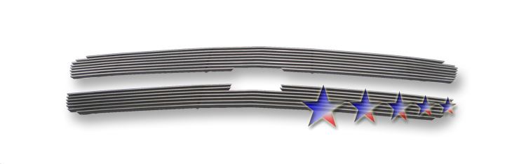 Chevrolet Silverado 3500 2003-2004 Polished Main Upper Stainless Steel Billet Grille