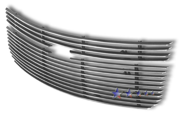 Chevrolet Equinox  2005-2009 Polished Main Upper Aluminum Billet Grille