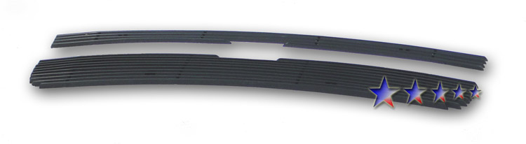 Chevrolet Equinox  2005-2009 Black Powder Coated Main Upper Black Aluminum Billet Grille