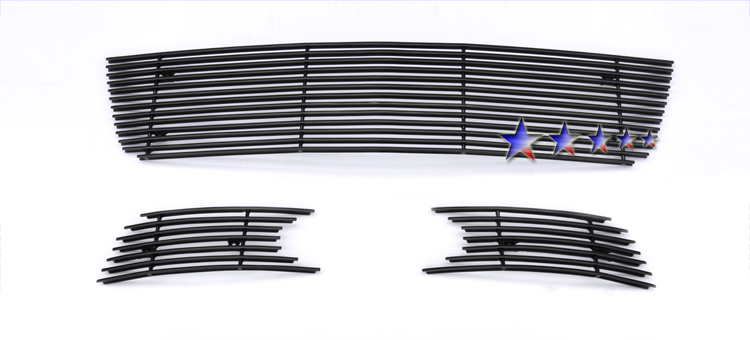 2006-2012 Chevrolet Impala  Black Powder Coated Black Aluminum Billet Grille - Lower Bumper