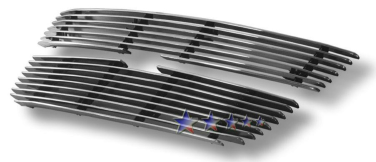 Chevrolet Colorado  2004-2012 Polished Main Upper Aluminum Billet Grille