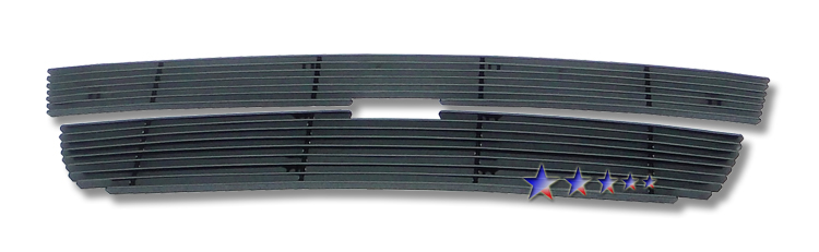 Chevrolet Colorado  2004-2012 Black Powder Coated Main Upper Black Aluminum Billet Grille