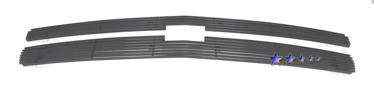 Chevrolet Silverado 1500 2007-2012 Black Powder Coated Main Upper Black Aluminum Billet Grille
