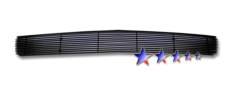 Chevrolet Silverado 1500 2007-2012 Black Powder Coated Lower Bumper Black Aluminum Billet Grille