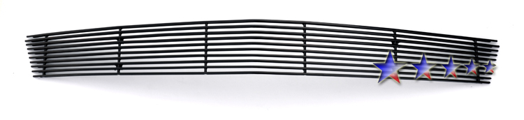Chevrolet Corvette C6 2006-2010 Black Powder Coated Lower Bumper Black Aluminum Billet Grille