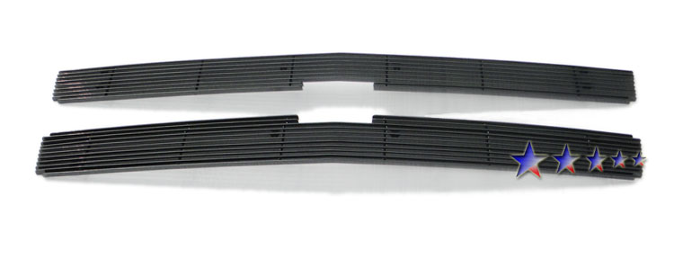 Chevrolet Silverado 3500 Hd 2007-2010 Black Powder Coated Main Upper Black Aluminum Billet Grille
