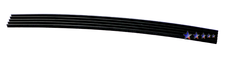 Chevrolet Silverado 3500 Hd 2007-2010 Black Powder Coated Top Bumper Black Aluminum Billet Grille