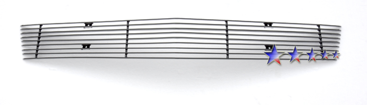 Chevrolet Cavalier  2003-2005 Black Powder Coated Lower Bumper Black Aluminum Billet Grille