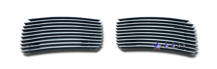 Chevrolet Silverado 3500 Hd 2007-2010 Polished Fog Light Aluminum Billet Grille