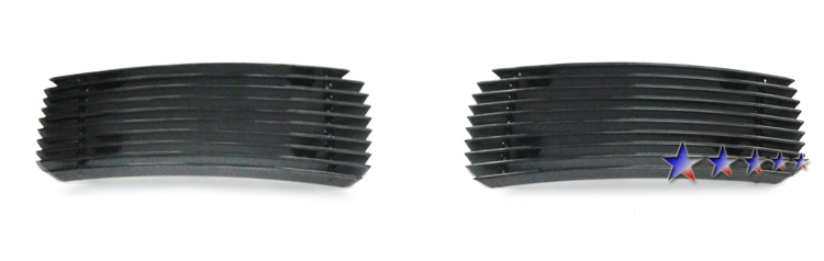 Chevrolet Silverado 3500 Hd 2007-2010 Black Powder Coated Fog Light Black Aluminum Billet Grille