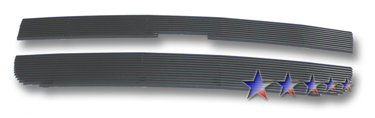 Chevrolet Express Van  2003-2011 Black Powder Coated Main Upper Black Aluminum Billet Grille