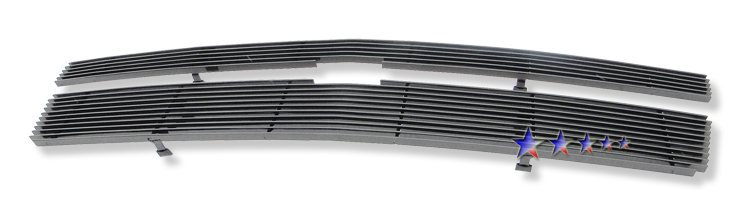 Chevrolet Suburban  2007-2012 Black Powder Coated Main Upper Black Aluminum Billet Grille