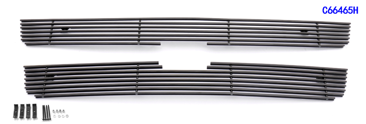 Chevrolet Trailblazer Lt 2006-2009 Black Powder Coated Main Upper Black Aluminum Billet Grille