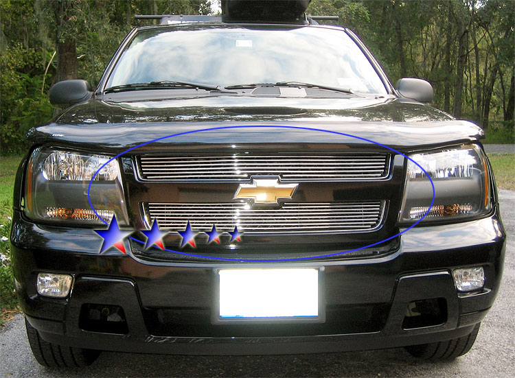 Chevrolet Trailblazer Lt 2006-2009 Polished Lower Bumper Stainless Steel Billet Grille