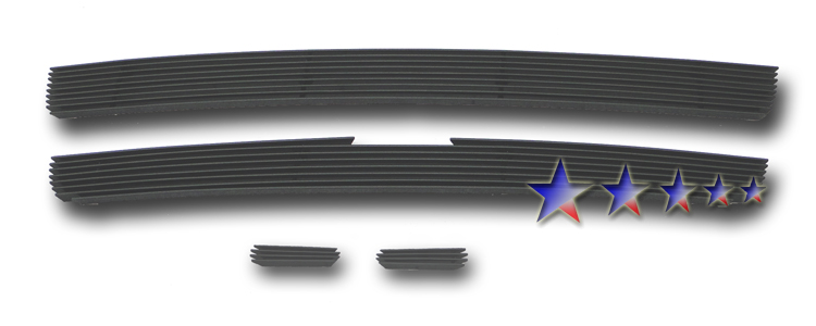 Chevrolet Trailblazer SS 2006-2009 Black Powder Coated Main Upper Black Aluminum Billet Grille