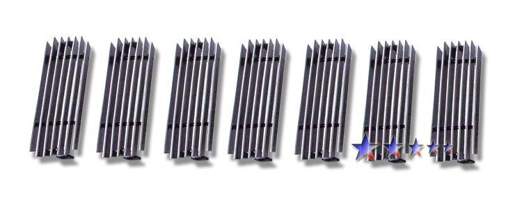 Hummer H2  2003-2007 Polished Main Upper Aluminum Billet Grille