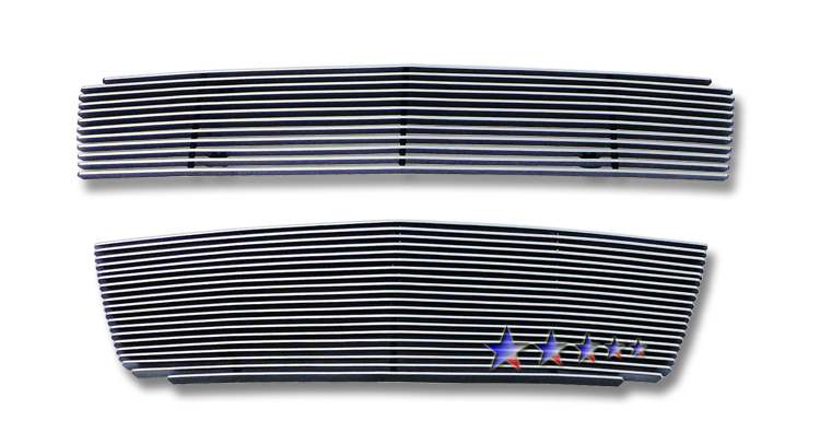 Chevrolet Aveo 5 Door Hatchback 2009-2011 Polished Main Upper + Lower Bumper Aluminum Billet Grille