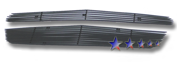 Chevrolet Equinox  2010-2012 Black Powder Coated Main Upper Black Aluminum Billet Grille