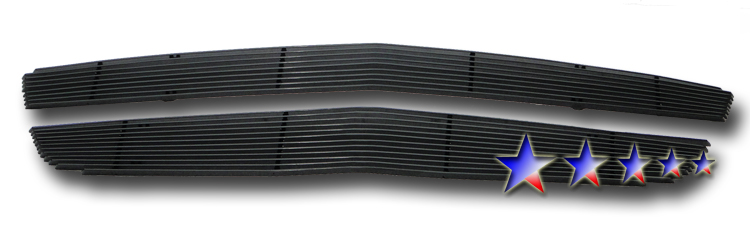 Chevrolet Traverse  2009-2012 Black Powder Coated Main Upper Black Aluminum Billet Grille