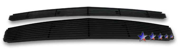Chevrolet Malibu  2008-2012 Black Powder Coated Main Upper Black Aluminum Billet Grille