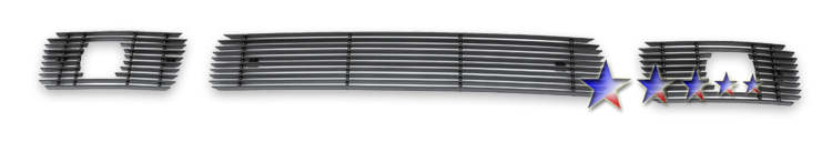 Chevrolet Colorado Xtreme 2004-2010 Black Powder Coated Lower Bumper Black Aluminum Billet Grille