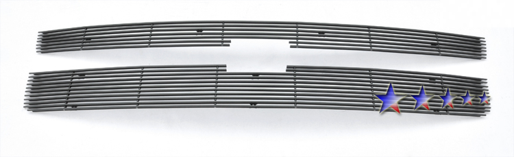 Chevrolet Silverado 3500 Hd 2011-2012 Black Powder Coated Main Upper Black Aluminum Billet Grille