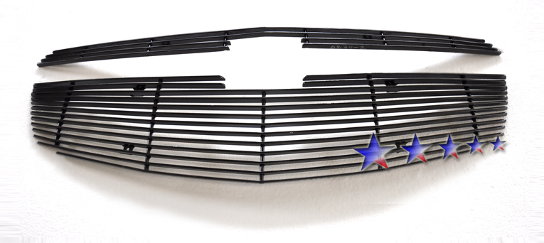 Chevrolet Cruze  2011-2012 Black Powder Coated Main Upper Black Aluminum Billet Grille