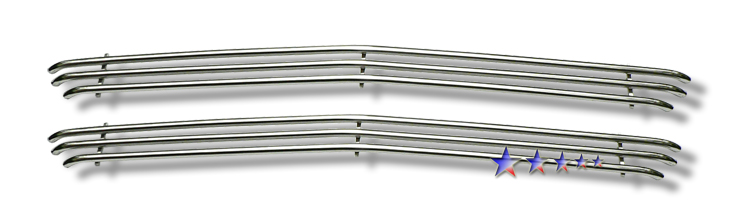 Chevrolet Silverado 1500 1999-2002 Polished Main Upper Tubular Grille