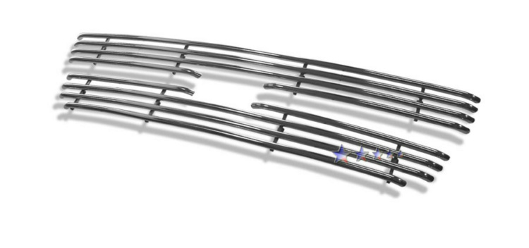 Chevrolet Silverado 3500 2001-2002 Polished Main Upper Tubular Grille