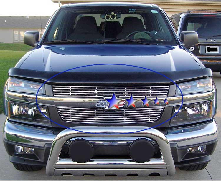 Chevrolet Colorado  2004-2012 Polished Main Upper Tubular Grille