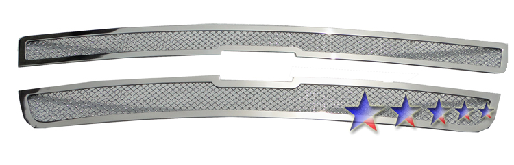 Chevrolet Silverado 3500 2001-2002 Chrome Main Upper Mesh Grille