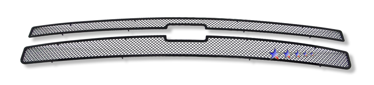 Chevrolet Silverado 1500 2007-2012 Black Powder Coated Main Upper Black Wire Mesh Grille