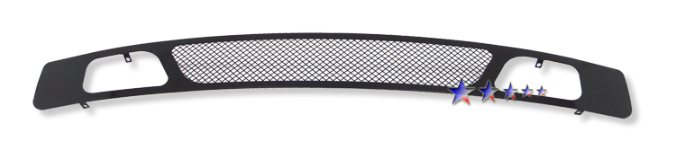 Chevrolet Silverado 1500 2007-2012 Black Powder Coated Lower Bumper Black Wire Mesh Grille