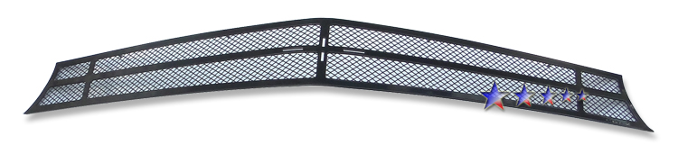 Chevrolet Camaro SS 2010-2012 Black Powder Coated Main Upper Black Wire Mesh Grille