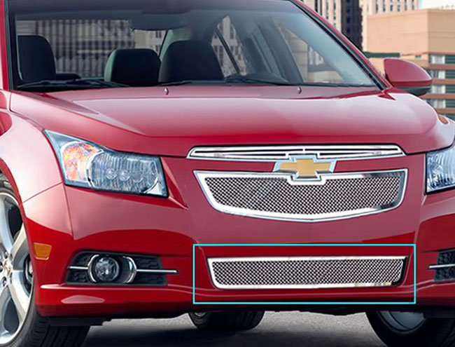 Chevrolet Cruze Lt, Ltz 2011-2012 Chrome Lower Bumper Mesh Grille