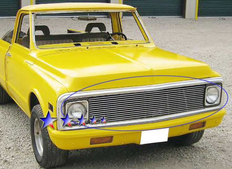 Chevrolet Blazer  1969-1972 Polished Main Upper Stainless Steel Billet Grille