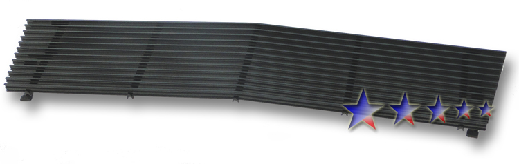 Chevrolet S-10 Pickup  1982-1990 Black Powder Coated Main Upper Black Aluminum Billet Grille