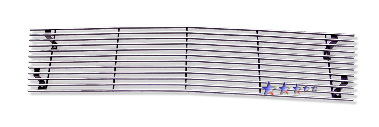 Chevrolet S-10 Pickup  1982-1990 Polished Main Upper Stainless Steel Billet Grille