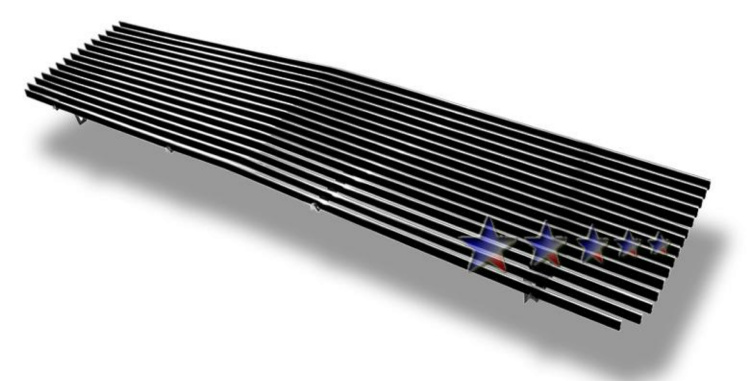 Gmc Full Size Pickup  1973-1980 Polished Main Upper Aluminum Billet Grille