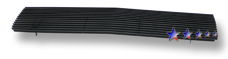 Chevrolet Full Size Pickup  1973-1980 Black Powder Coated Main Upper Black Aluminum Billet Grille